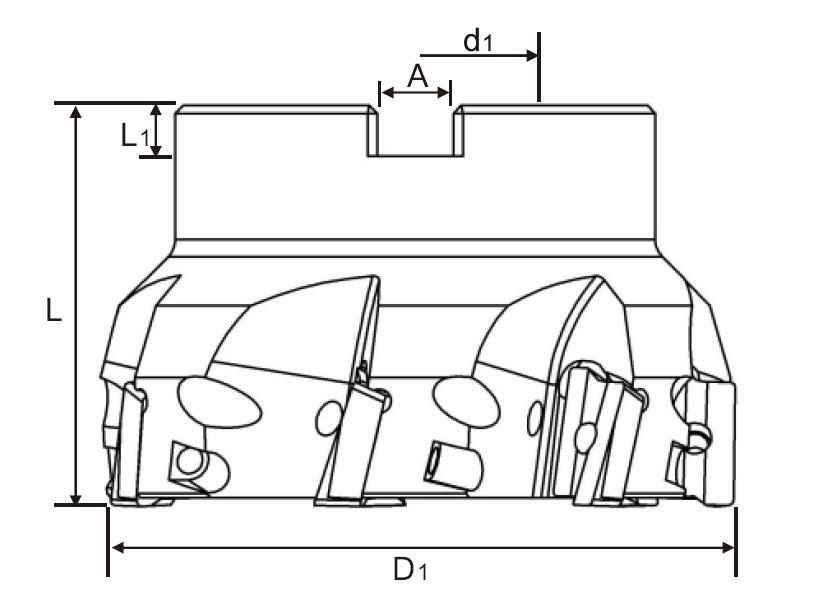 WFX08直角高速殼型銑刀