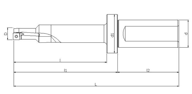TSD單刃快速鑽頭(M6螺栓沉孔加工)