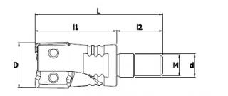 XDK-SB森拉天時鎖牙式直角高速銑刀
